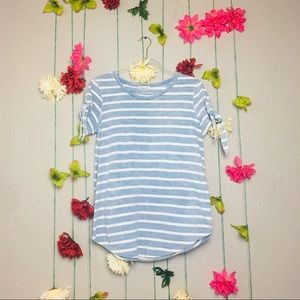 June and Delancey blue and white stripe T-Shirt M